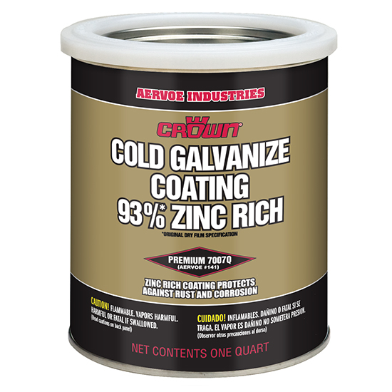 CROWN COLD GALVANISE COATING 93% ZINC 1L