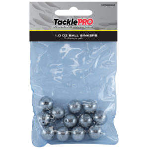 TacklePro Ball Sinker 1.0oz - 12pc