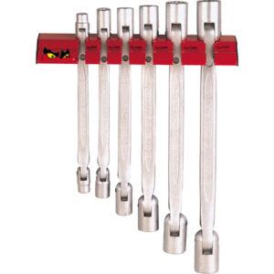 Teng 6pc D-Flex MM Wrench Set 8-19mm W/Wall Rack