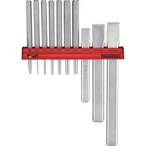 Teng 10pc Punch & Chisel Set w/ Wall Rack