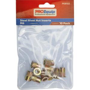 ProEquip M6 Steel Rivet Nut Inserts - 10pk