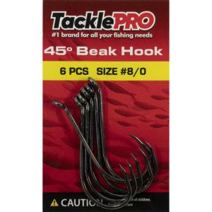TacklePro 45deg. Beak Hook #8/0 - 6pc