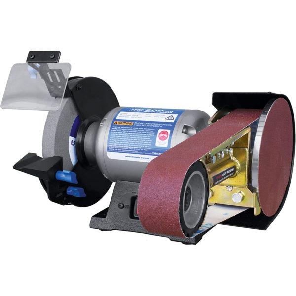 ITM 200mm Bench Grinder w/Belt & Disc Grinding Attachment