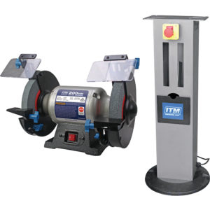 ITM Bench Grinder w/ Stand & Emergency Stop Switch