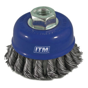 ITM Twist Knot Cup Brush Stainless Steel 75mm