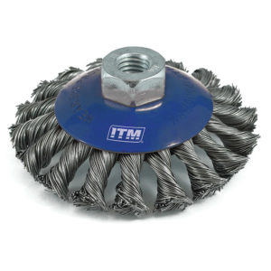 ITM Twist Knot Bevel Brush Stainless Steel 100mm