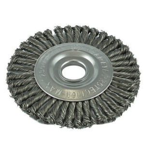 ITM Twist Knot Pipeline Wheel Brush Steel 125mm