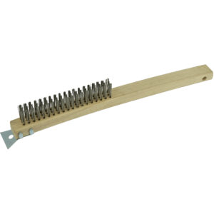 ITM Wire Brush 353mm - 3 Row Steel w/Scraper