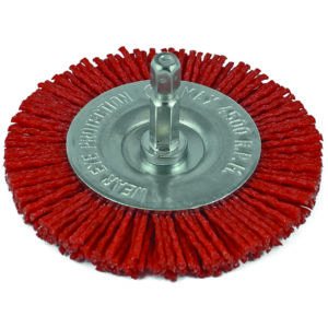 ITM Nylon Spindle Mounted Wheel Brush 75mm