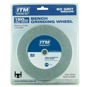 ITM Grinding Wheel Aluminium Oxide 150 x 25mm 60 Grit Medium