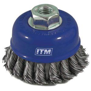 ITM Twist Knot Cup Brush Steel 50mm