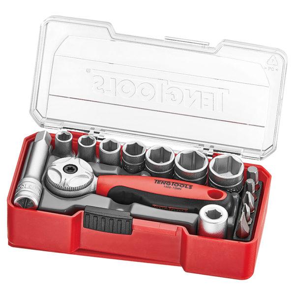 Teng 15pc 1/4in Dr. Socket Set 5.5-13mm