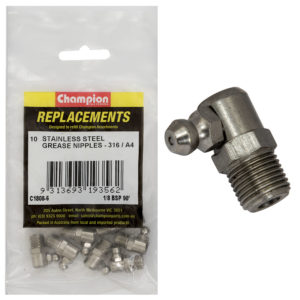 Champion Grease Nipple Stainless 1/8in BSP 90Deg.316/A4-10pk
