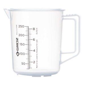 Groz Polypropylene Measuring Jug 250ml