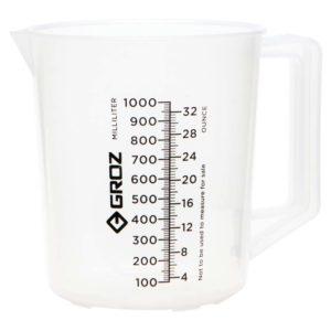 Groz Polypropylene Measuring Jug 1000ml