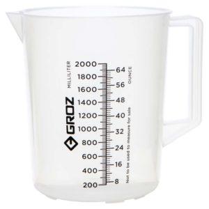 Groz Polypropylene Measuring Jug 2000ml