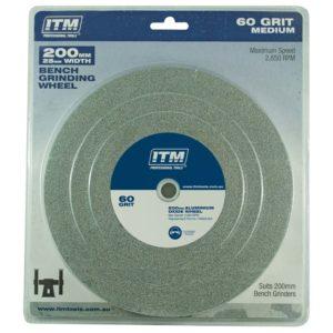 ITM Grinding Wheel Aluminium Oxide 200 x 25mm 60 Grit Medium
