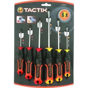 Tactix Screwdriver 6pc Set Slot & PH