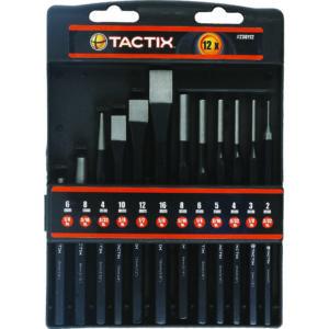 Tactix 12pc Chisel & Punch Set