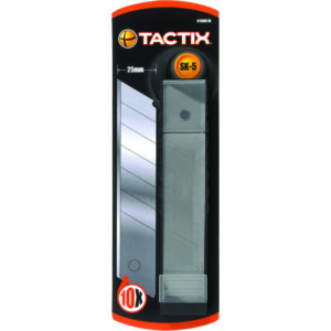 Tactix Knife Blade Snap-off 10pc 25mm