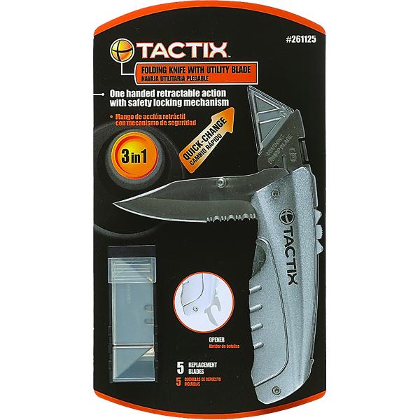 Tactix Utility Folding Knife Dual Function