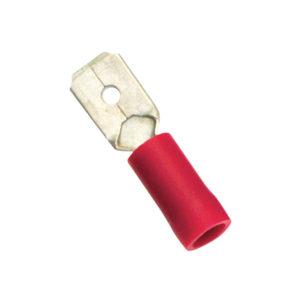 Red Male Push-On Spade Terminal-100Pk