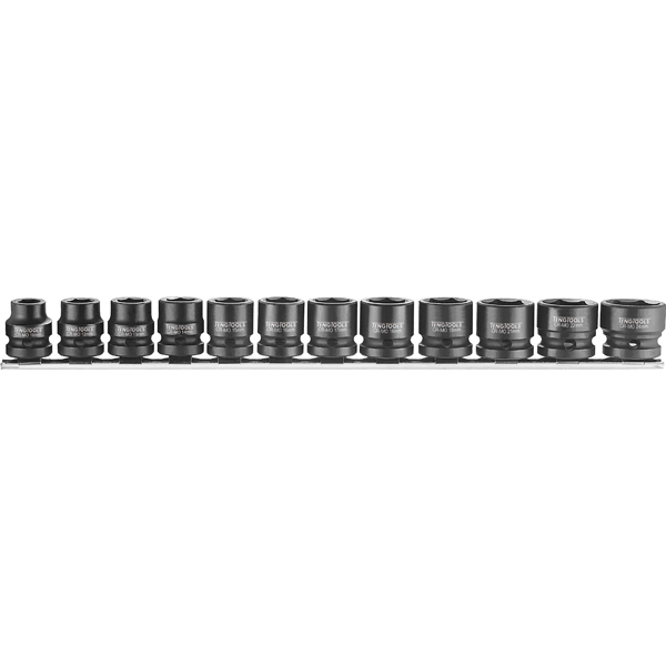 Teng 12pc Stubby Air Impact Socket Set 10-24mm