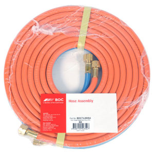 HOSE TWIN ASSEMBLY 5mm X 5M OXY/LPG