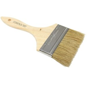 4 INCH PURE BRISTLE WOOD HANDLE PAINT BRUSH