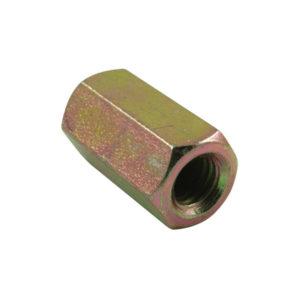 M6 x 25mm x 1.00 Hex Coupler Nut-10Pk