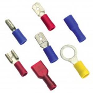 5/32in / 4mm Blue Spade Terminal - 10pc