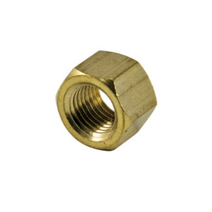 1/4in UNC Brass Manifold Nut-4Pk