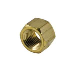 1/4in UNF Brass Manifold Nut-5Pk