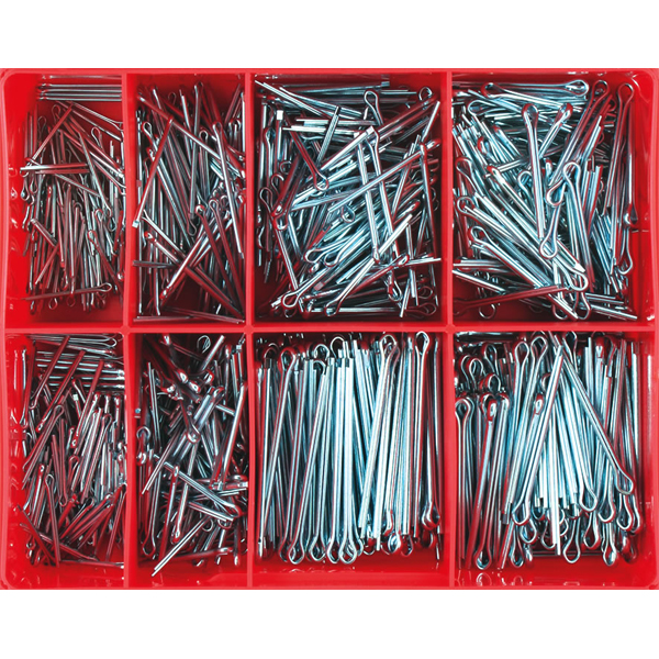 800pc Split Pin Assortment 1.6-3.2mm