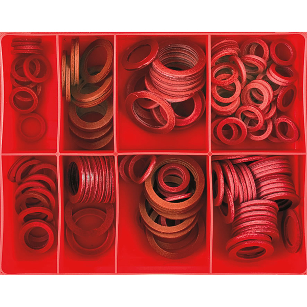 143pc 3/32in Fibre Washer Assortment