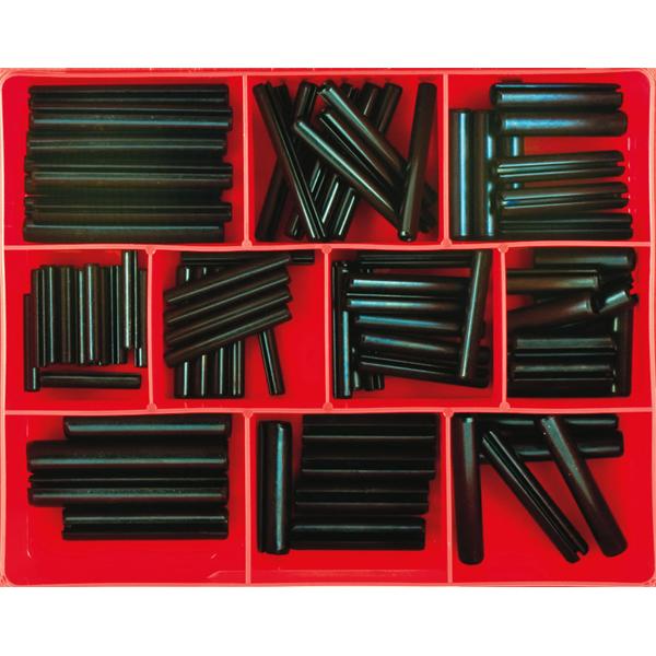 82pc Metric Roll Pin Assortment (Lrg Sizes)