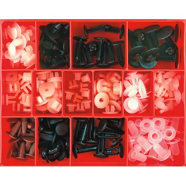180pc Plastic Trim Clip Assortment