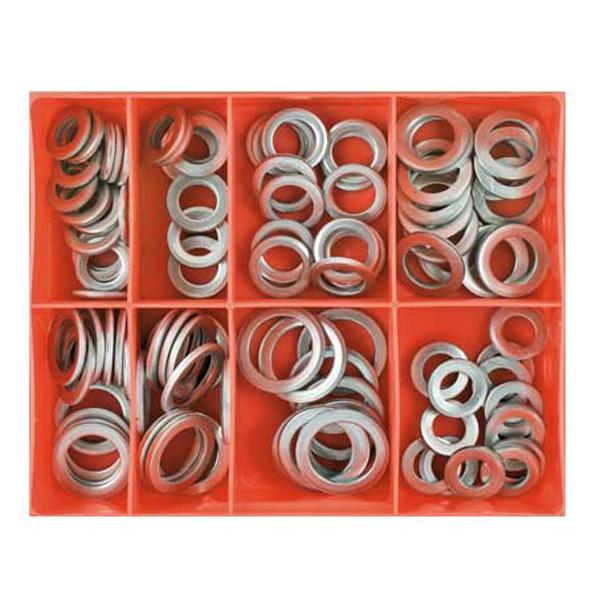 100pc mm/Imp Aluminium Sump Plug Washer Assortment
