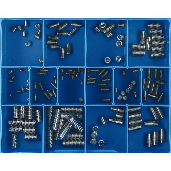 140pc Grub Screw Assortment 316/A4