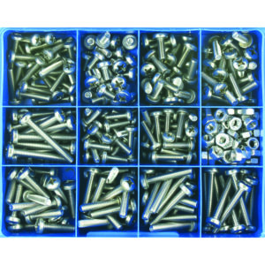 345PC MM MACHINE SCREW ASSORTMENT PAN HD 316/A4