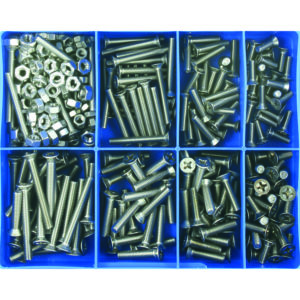 295PC MM MACHINE SCREW ASSORTMENT CSK HD 316/A4