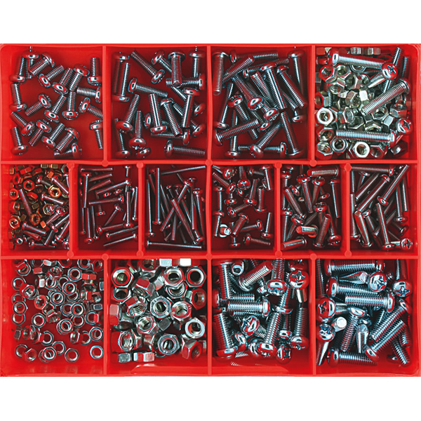 520pc Machine Screw & Nut Assortment (mm)