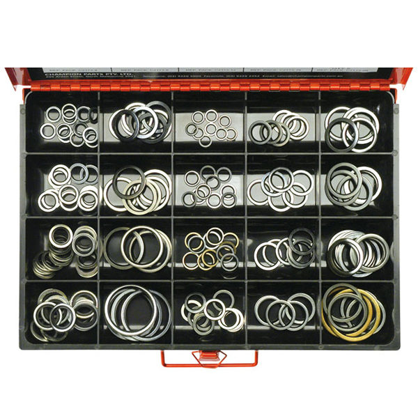 173PC BONDED SEAL (DOWTY)  WASHER ASSORTMENT