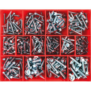 350PC HEX HEAD SELF TAPPING SCREW ASSORTMENT