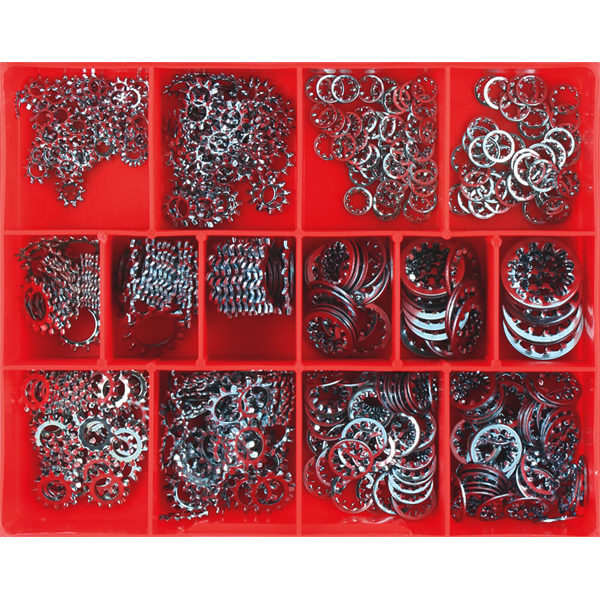 500pc Internal/External Star Washer Assortment