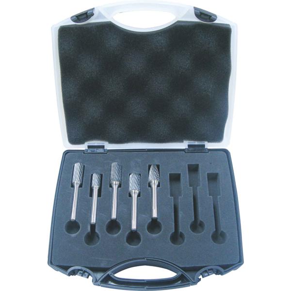 Unikut 5pc Carbide Burr Set-3/8 & 1/2in H/Duty x 1/4in Dc