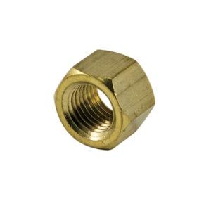 7/16in UNF Brass Manifold Nut-25Pk