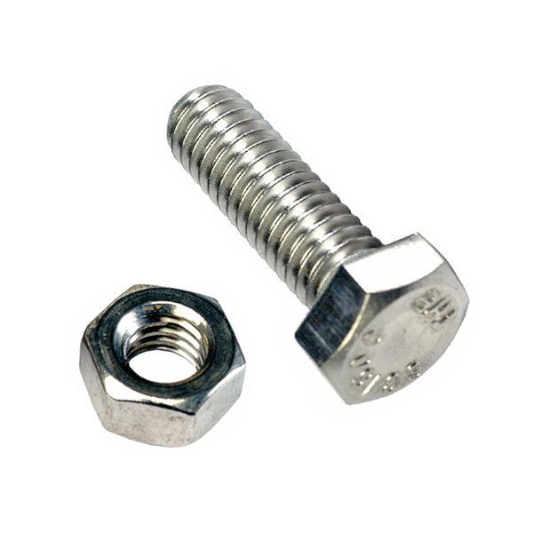 M10 x 100 Set Screw & Nut (C) GR8.8