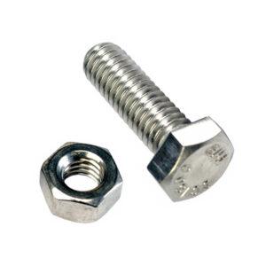 M12 x 45mm x 1.75 Set Screw W/Nut-GR8.8-3Pk