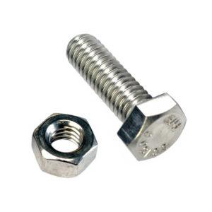 M12 x 45mm x 1.25 Set Screw w/Nut - GR8.8 - 3pc